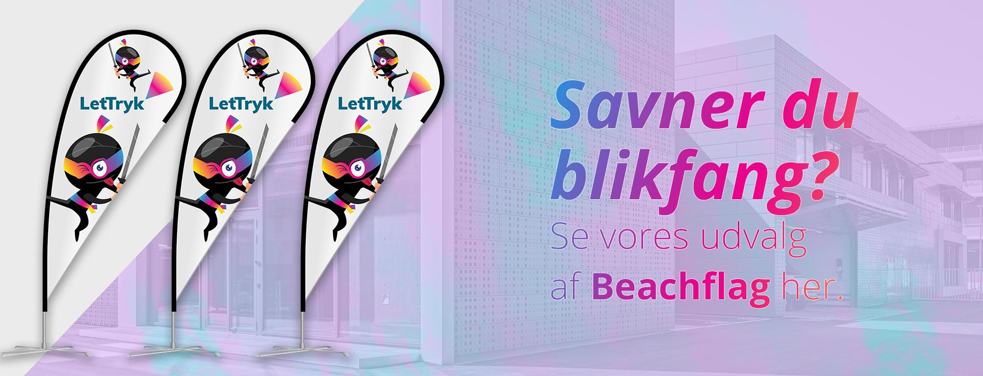 Skab blikfang med et Beachflag fra Lettryk